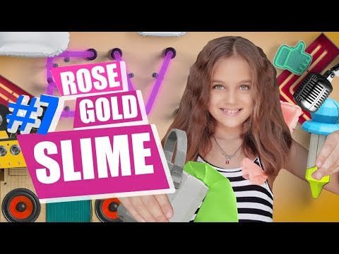 Rose-Gold Slime! Ingredients available in Dubai.