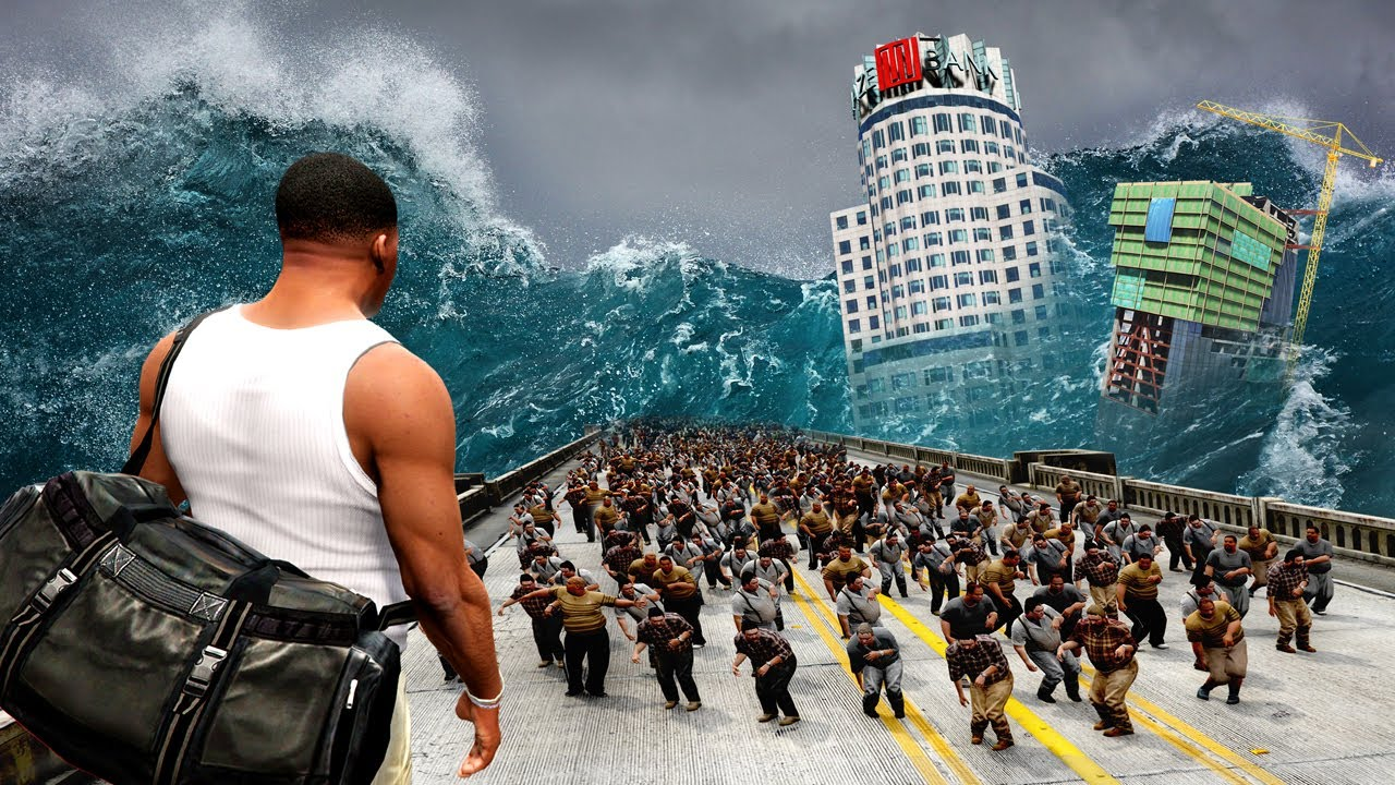 Download The END OF THE WORLD in GTA 5! (BIG Tsunami, Zombie Outbreak, Tornado Storm & More)