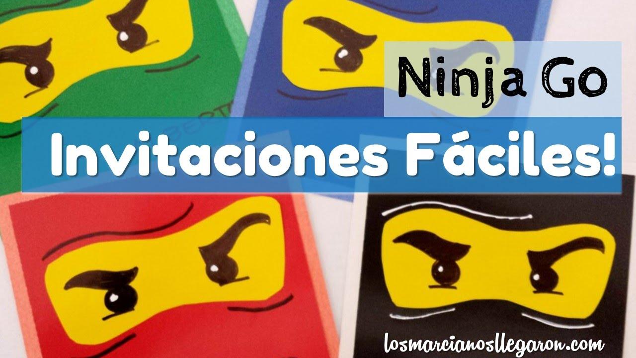 Tarjetas Faciles De Papel Motivo Ninjago Los Marcianos Llegaron