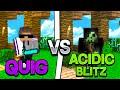 QUIG VS. ACIDICBLITZZ YOUTUBER 1v1 BET   Hypixel Skywars