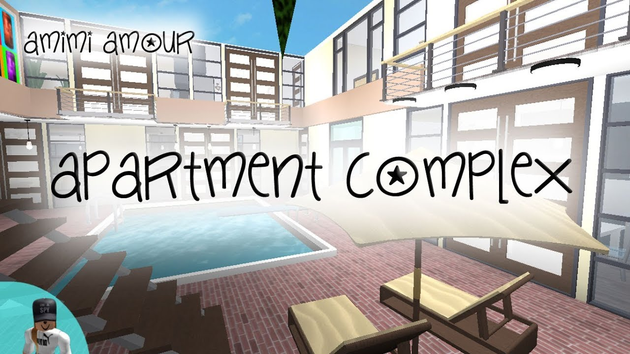 Welcome To Bloxburg Apartment Complex Speed Build Youtube