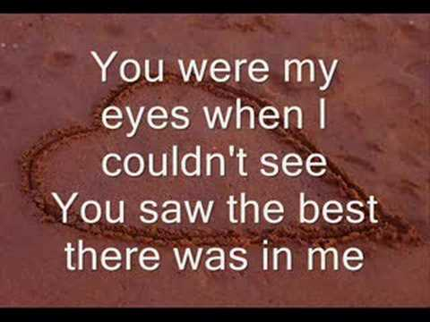 Because You Loved Me -LYRICS