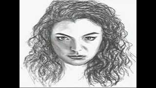 Drawing of Lorde - Ella Yelich-O'Connor