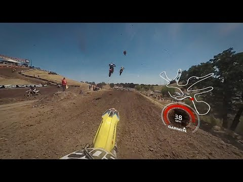 Garmin VIRB 360: Hangtown MX Practice lap with Pro Ronnie Stewart