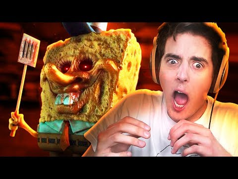 SPONGEBOB HORROR GAME?!! | 3:00 AM at The Krusty Krab