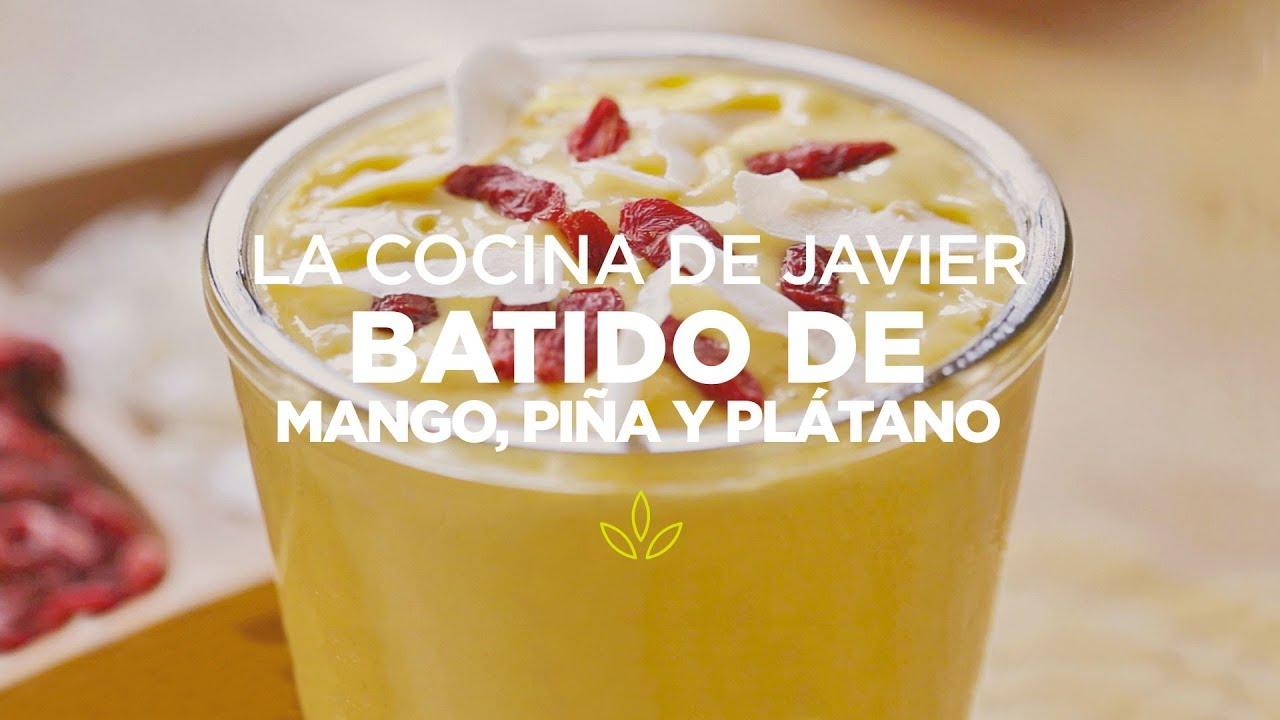 batido de piña mango y platano