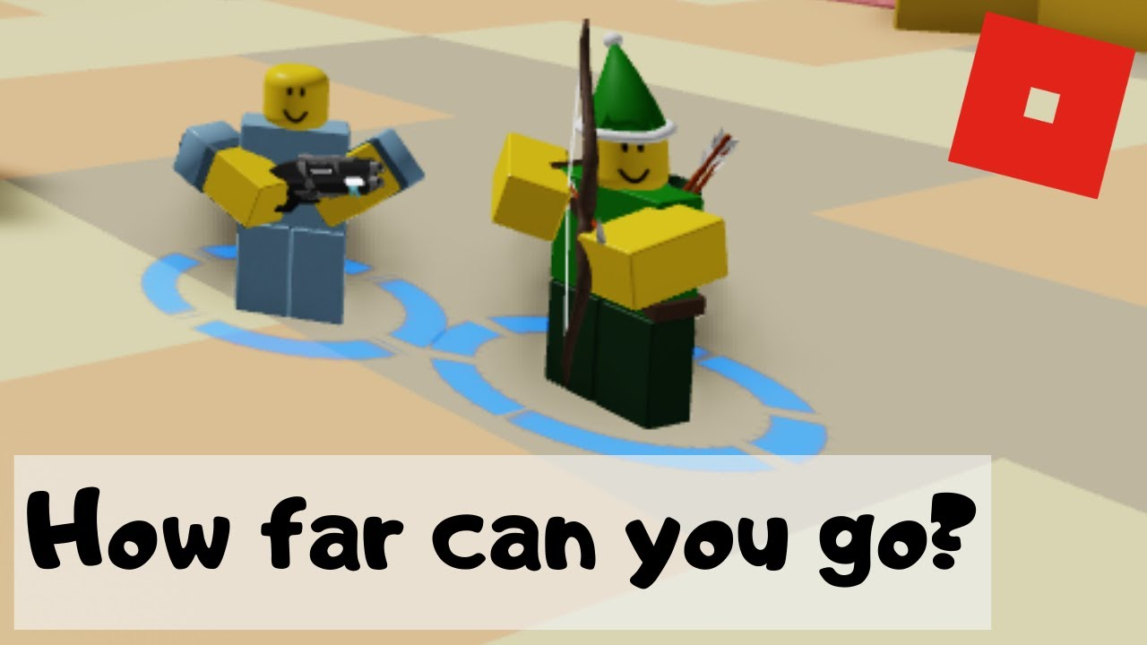 How Far Can You Go Roblox How Far Can You Go With Holiday Archer Frost Blaster Tower Defense Simulator Roblox Youtube