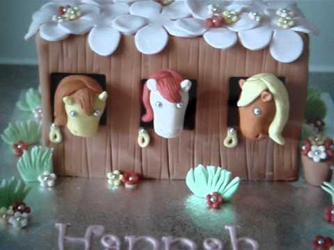 Horse S And Stable Birthday Cake Youtube