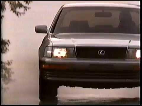 1990 Lexus LS400 Luxury Sedan Commercial  YouTube