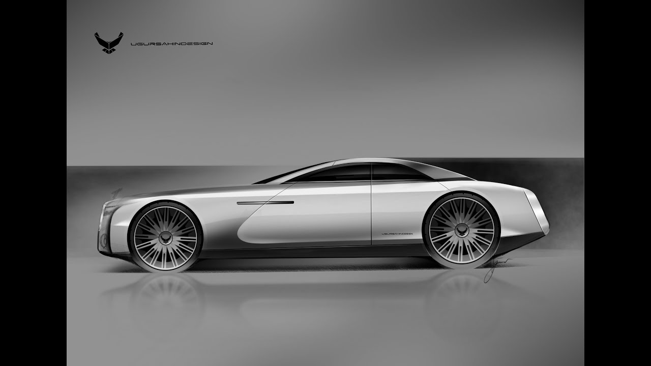 Rolls Royce Concept Sketch Ipad Pro Apple Pencil Youtube