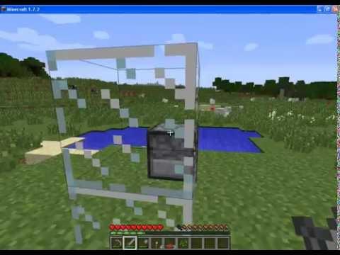 Как создать стекло в майнкрафте