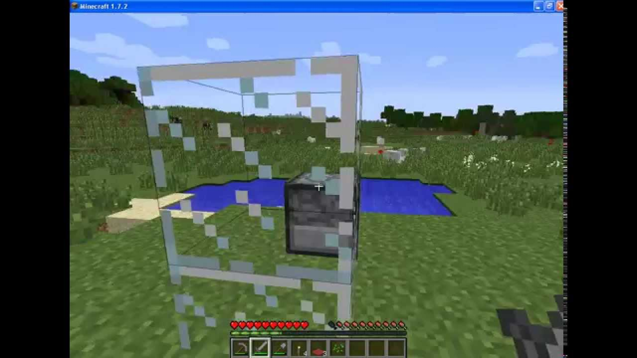 Как в майнкрафте сделать тонкое стекло