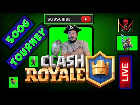 Let's Play | Clash Royale | 500 GEM Tourney | Mr BigglesWorth Will Show Me Dae Wae | Ahooooy Mateys