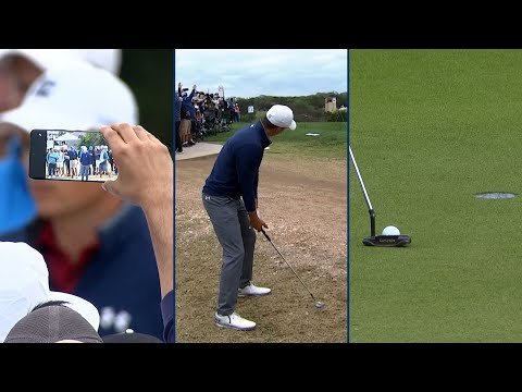 Jordan Spieth's fantastic flop leads to masterful birdie at Valero Texas Open