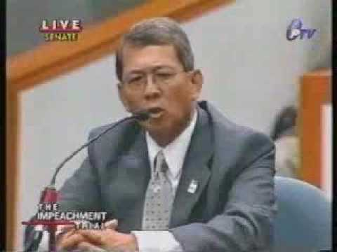Estrada Impeachment Trial - Jun Yasay 1