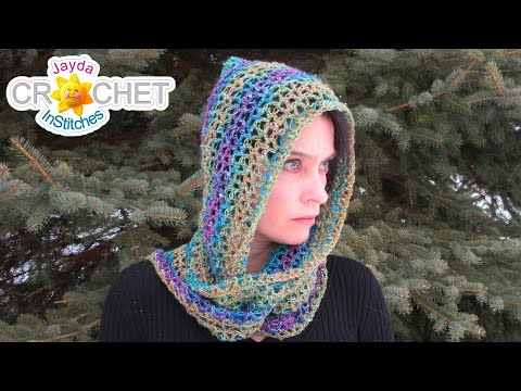 Luxe Hooded Scarf using Lion Brand Shawl in a Ball - Crochet Pattern & Tutorial