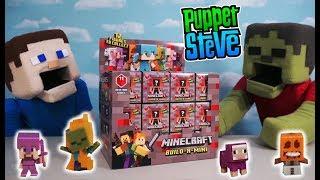 Minecraft Mini Figures Redstone Blind Box Series 11 Mattel Case Toys Unboxing! Puppet Steve