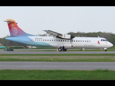 Island Air ATR 72 take off, Dtw*+-.