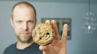 chocolate chip cookies krispiga utanp sega inuti