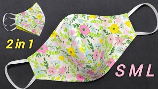 New Style All Sizes Very Easy Pattern Mask Face Mask Sewing Tutorial How to make Mask at Home