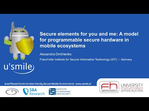 Secure elements for you and me: A model for programmable secure ... (by Alexandra Dmitrienko)