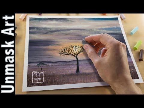 Safari Landscape Painting with Soft Pastels | Live Tutorial