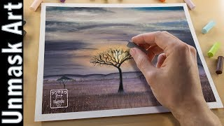 Safari Landscape Painting with Soft Pastels | Live Tutorial