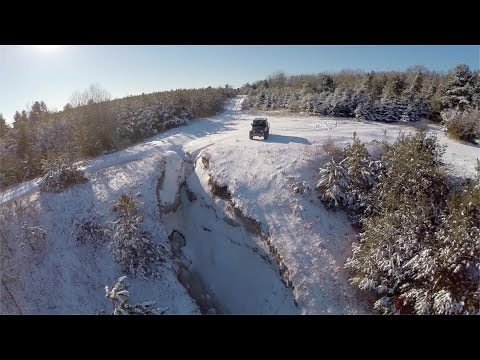 Jeep with Drone at Wesleyville, Ontario.