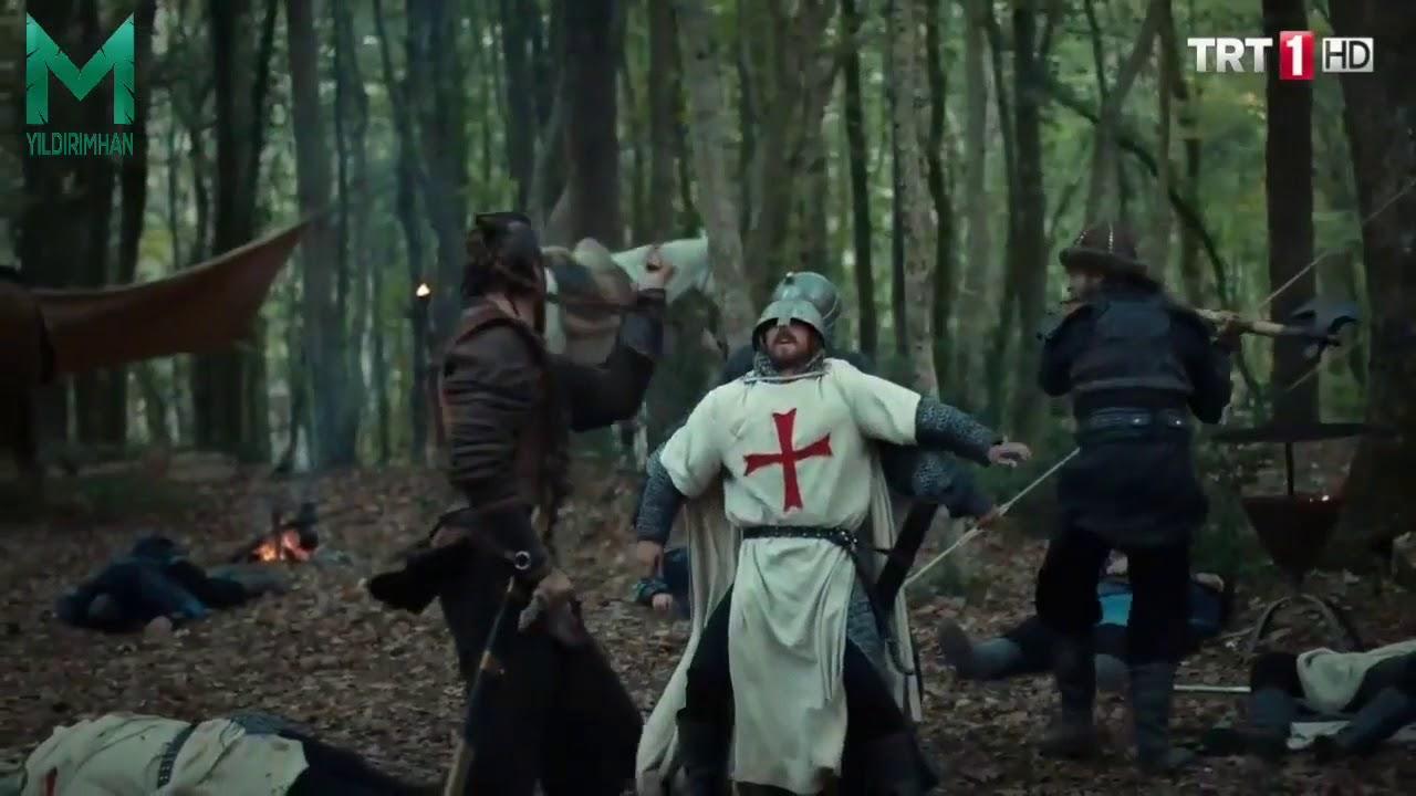 أول قتال لأرطغرل بالبلطه علي طريقة تورغوت