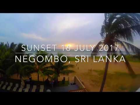 Sunset over the Indian Ocean, Sri Lanka 16 July 2017