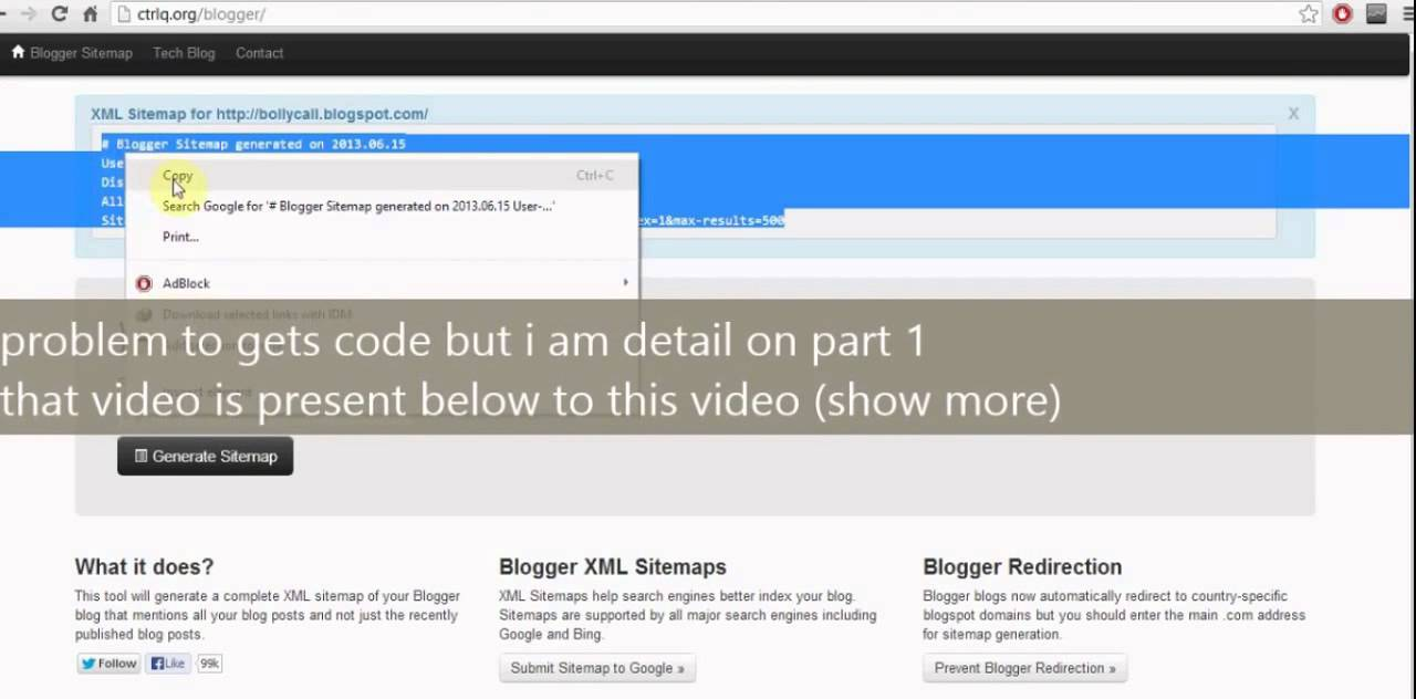 how to enable crawlers and indexing in blogger youtube
