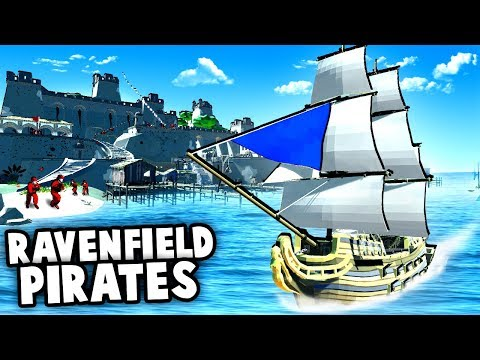 RAVENFIELD Pirates!?  Epic Pirate Fortress vs Pirate Ship MAP! (Ravenfield Mods Gameplay)