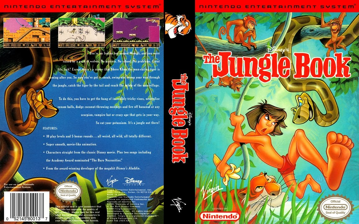 jungle book nes youtube. Black Bedroom Furniture Sets. Home Design Ideas