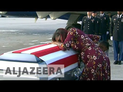 Trump denies offending widow of soldier killed in Niger