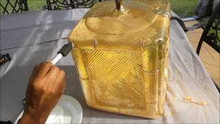 Gold Leaf Thrift Store Lamp