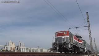 JR貨物甲種輸送 DE10 1750号機牽引の東京メトロ13000系7両(H29.6.17)