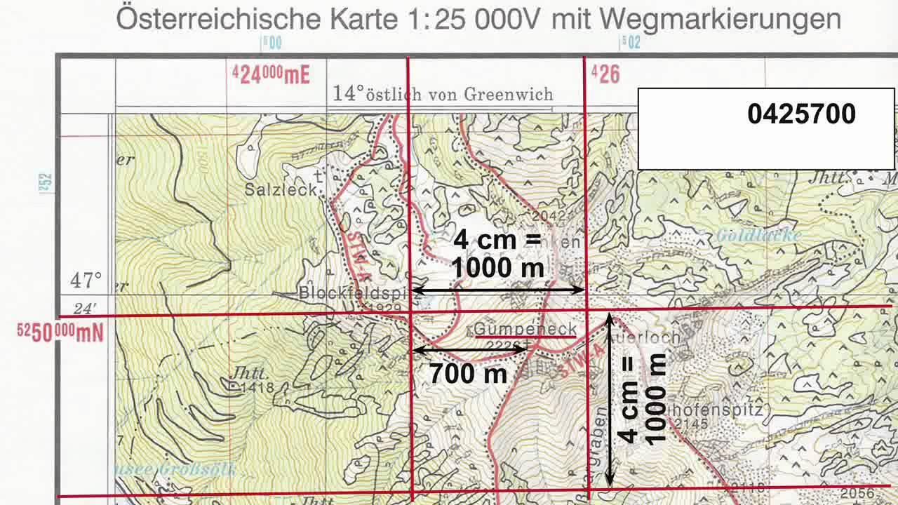 Koordinaten Karte.Utm Koordinaten Bestimmen