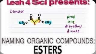 Naming Esters - Organic Chemistry IUPAC Naming by Leah4sci