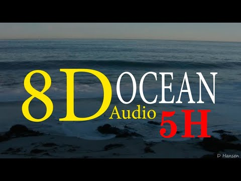 8D   OCEAN WAVES SOUND  OCEANO  5H