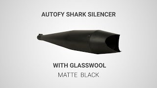 Details about  /Exhaust Silencer Shark Shape Glass wool W//O Baffle For Royal Enfield New Brand