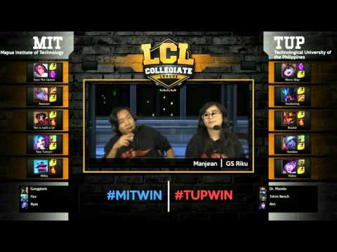 LCL 2016 Spring Term - W5 - MIT vs TUP