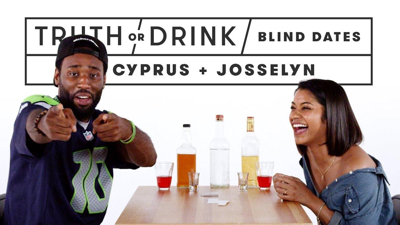 Blind Dates Play Truth or Drink (Cyprus & Josselyn)   Truth or Drink   Cut