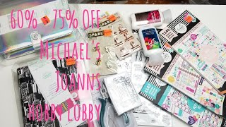 PLANNER HAUL - JOANN - MICHAELS - HOBBY LOBBY - PLANNERS, STAMPS, STICKERS, WASHI