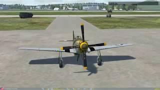 DCS World: Обучение TF-51D Посадка