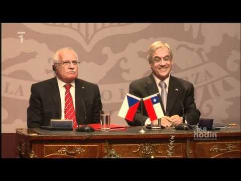 168 hodin - Pero z Chile - Václav Klaus krade - Czech President steals pen