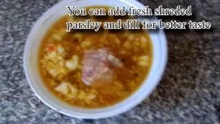 Shurpa Samarkand style meat soup recipe (English Version)
