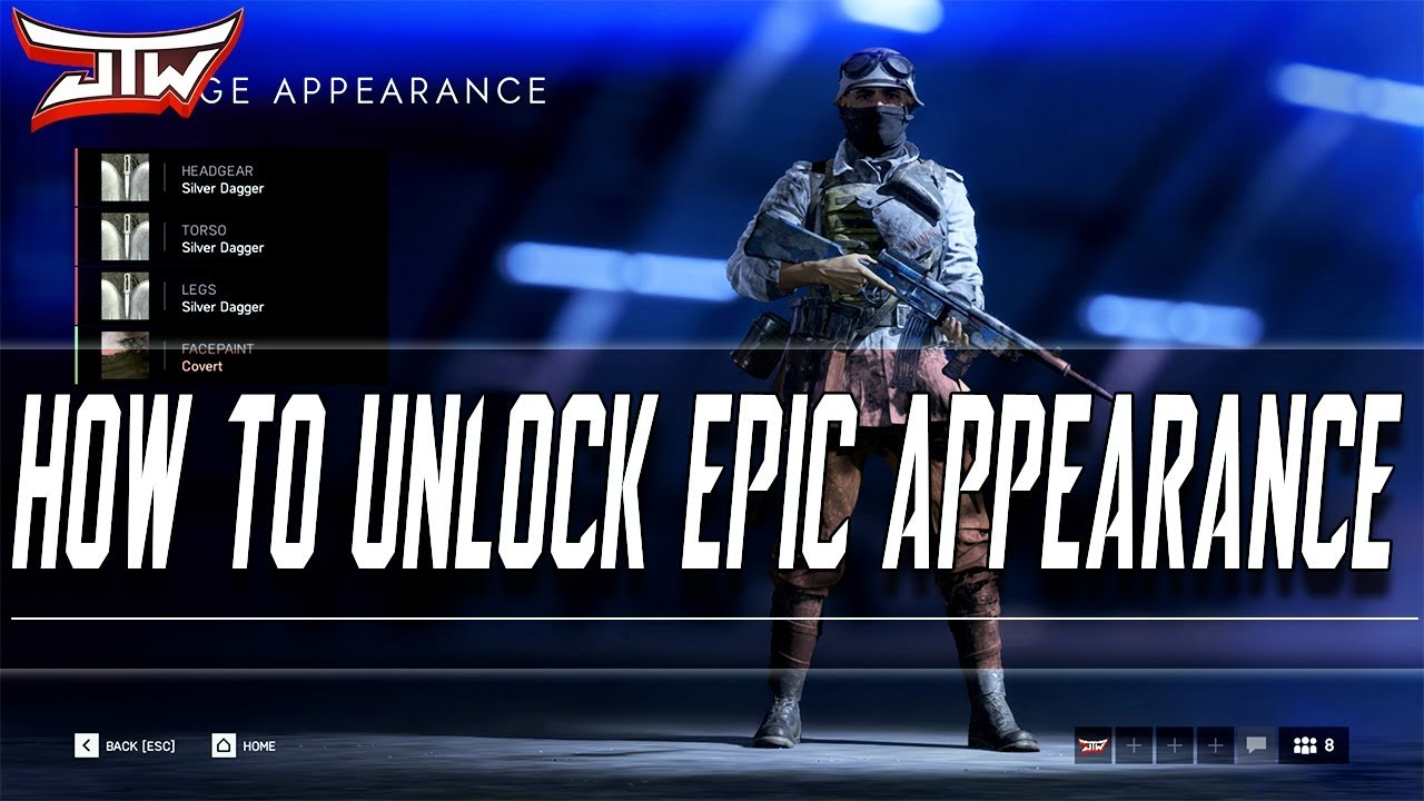 How To Unlock EPIC Appearance | Battlefield V