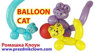 КОТ котик из одного шарика ШДМ One Balloon Animal Cat DIY TUTORIAL como hacer un gatito con globos