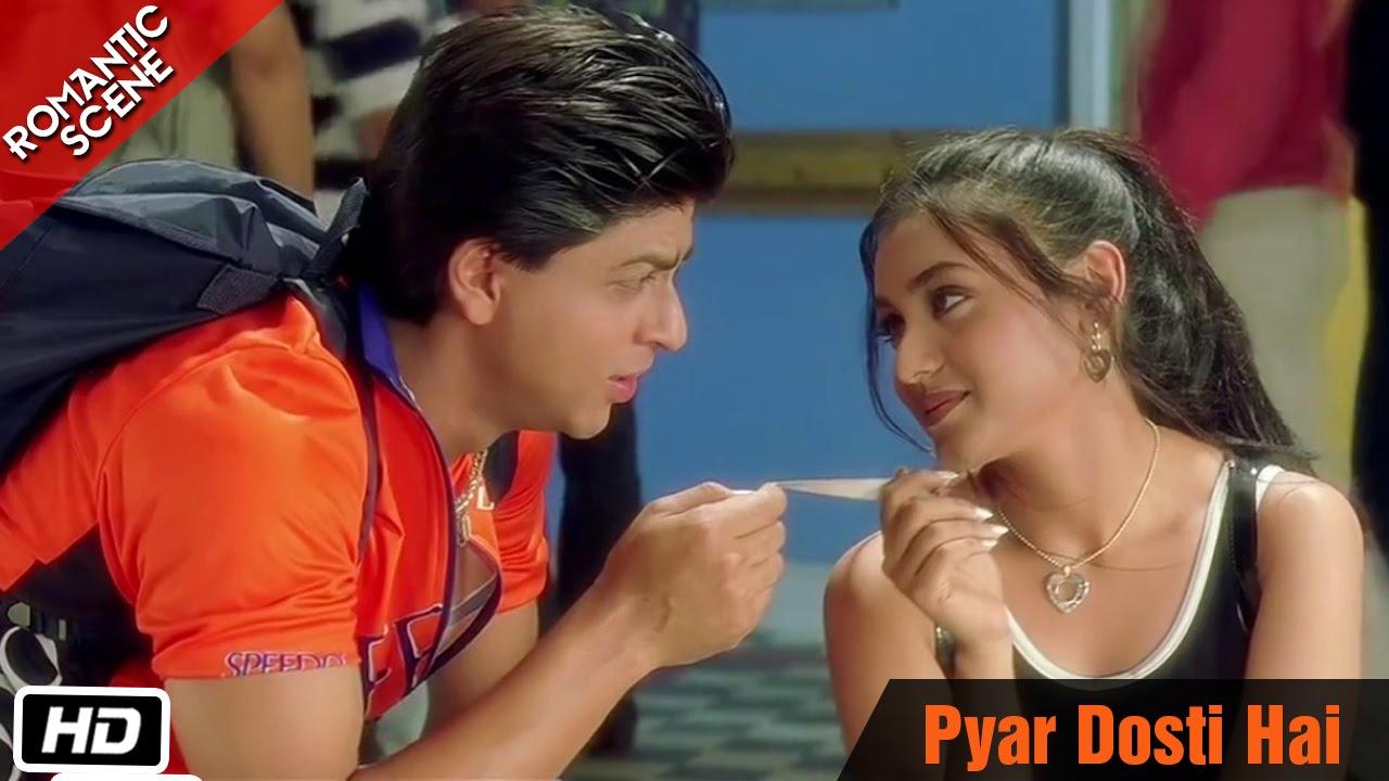 Pyar Dosti Hai Romantic Scene Kuch Kuch Hota Hai Shahrukh Khan