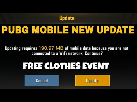 Pubg Mobile New Update Is Here - Download Now - Free Clothes - New Skins